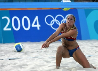 You tell Sexy girl beach volleyball oops seems